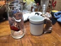 Lot Of 2 Vintage ET Glasd And Mug Avon Pizza Hut