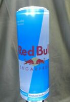 Red Bull Advertising Solid Acrylic Back Bar Lit! Glow Display, Man Cave, RARE