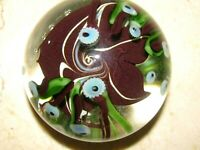 Vtg. ORIENT AND FLUME FISH/SEAWEED/LIMPETS PAPERWEIGHT:  Rick Gibbons, 3