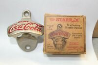 Vintage Coca-Cola Starr X Bottle Opener Brown Mfg. In Original Box #883