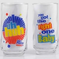 LIBBEY Glass Diet Pepsi Tumbler uh huh #x27;You got the right one Babyquot; Last One