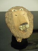 MidCentury Scandinavian Modern Studio Art Pottery Lion Sculpture Signed Jensen!
