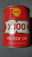 Shell X-100 1 Gallon Oil Can