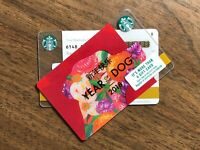STARBUCKS Gift Card 2018 RARE BLACK LINE YEAR OF THE DOG Chinese New No $ Value