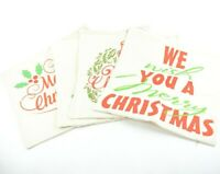 4 Pack Merry Christmas Throw Pillow Covers 18x18 Holidays Christmas Themed