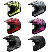 Adult Fulmer Dual Sport Helmet - 101 STATIC - DOT ATV UTV Off Road Motorcycle