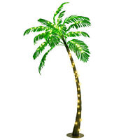 5 Ft Artificial Palm Tree with LED Lights Pre-lit Indoor Outdoor