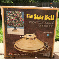 Vintage Star Bell Revolving Rotating Musical Christmas Tree Stand # 69-RM WORKS