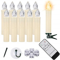 Led Taper Candles, 10 PCS LED Window Candles Battery Operated Flameless Candles