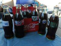 5 Vintage Coca Cola Bottle Super Bowl 14/15/16/17/18 & 1996 Olympic Torch Relay