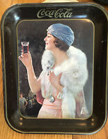VINTAGE ANTIQUE COCA-COLA 1925 FLAPPER PARTY GIRL ADVERTISING SERVING TRAY