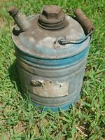 Vintage Metal Gas Can With Wooden Handle