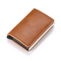 Bycobecy Credit Card Holder Wallet Men Women Metal RFID Vintage Aluminium B