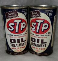 Two Vintage STP Oil Treatment Cans Unopened E4
