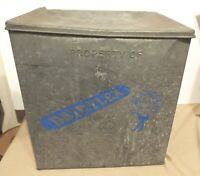VINTAGE LARGE DAIRYLEA MILK BOX GALVANIZED STEEL WITH STYROFOAM