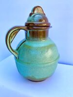 Gift for Girl Frankoma Green Pottery Guernsey Pitcher amp; Lid 7quot; x 5quot;