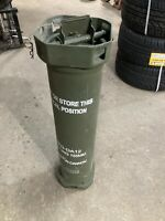 EMPTY 155mm Howitzer Powder Canister Metal Can Waterproof Time Capsule Ammo