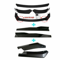 Glossy Black Car Front Bumper Lip Spoiler Rear Side Skirt Splitter Universal Kit $70.34