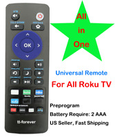 Universal Remote Control fit for Insignia ROKU TV All in one $7.89