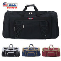 72L Men Women Duffle Tote Bag Gym Travel Overnight Weekender Bag Carry Luggage