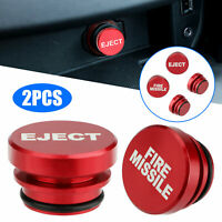 2x Universal Fire Missile Eject Button Car Cigarette Lighter Cover Accessories $9.48