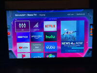 Sharp 43quot; Class LED 2160p Smart 4K UHD TV with HDR Roku TV $100.00