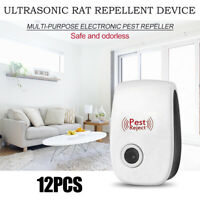 12X Ultrasonic Pest Repeller Home Control Electronic Repellent Mice Rat Reject $3.89