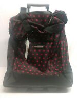 Wisdom 16 Inch Travel Suitcase On Wheels pink pok a dots