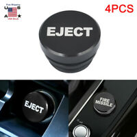 4X Universal Fire Missile Eject Button Car Cigarette Lighter Cover Accessories $13.79