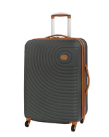 27quot; Carry On Luggage Travel Suitcase Rolling Wheeled Medium Checked Bag Gray