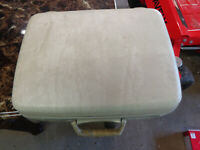 vintage rare Samsonite luggage suitcase small off white needs cleaning