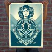 """OBEY """"Protect Biodiversity Cultivate Harmony"""" Screen print Signed Numbered 500 $169.94"""