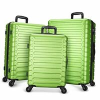 Luggage Set Expandable Lightweight Suitcase Sets Hardshell ABS with Green