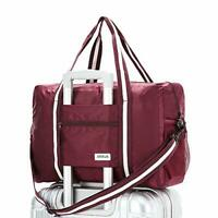 Travel Lightweight Waterproof Foldable Storage Carry Luggage Duffle Wine Red