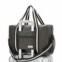 Travel Lightweight Waterproof Foldable Storage Carry Luggage Duffle Tote Grey