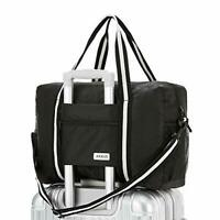 Travel Lightweight Waterproof Foldable Storage Carry Luggage Duffle Tote Black