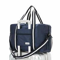 Travel Lightweight Waterproof Foldable Storage Carry Luggage Duffle Navy Blue