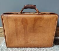 Vintage Hartmann Brown Leather Carry On Luggage Bag Briefcase amp; Combination Lock