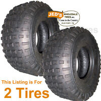 2) 16/8.00-7 16x8.00-7 16/8-7 ATV Go Kart TIREs Wanda Journey P319 Knobby 4ply