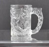 Vintage Clear Glass McDonald's Batman Mug Cup Batman Forever 1995 Made In France