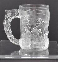 Vintage Clear Glass McDonald's Batman Mug Cup Batman Forever 1995 Made France Y6