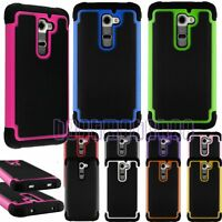 for LG cover G2 rugged rubber silicone shook proof case triple layer LG G 2 $6.80