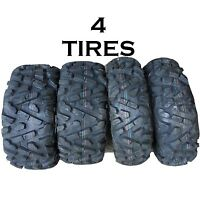 SET OF 4 ATV TIRES 26 9 12 FRONT 26 10 12 REAR 2 OF EACH P350 6ply like bighorn