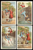 SET OF 4 LAUTZ BROS ACME SOAP TRADE CARDS, WILLIE IN THE WELL, FREE SHIP, TC1016