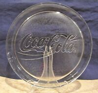 COCA COLA LARGE CLEAR  GLASS ROUND TRAY 13