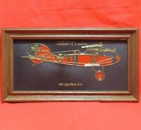 Seagram's VO Canadian Collector's Item Plaque Sign 1917 Albatros D-V Plane 13x7