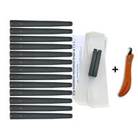 Tacki-Mac Arthritic Serrated Oversize +3/32 Golf Grip Kit (13 Grips/Blade/+More)