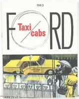 1963 Ford Motor Co Taxi Cabs ~ Sales and Specifications Booklet in Full Color