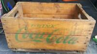 RP2431 Vintage Coca Cola Coke Soda Pop Wood Wooden Crate Case w/ Green Lettering