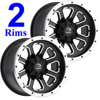 2) ATV UTV RTV RIMs WHEELs 12x8 4/110 4+4 Vision Type 548 COMMANDER Aluminum